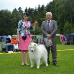 Suki with breed judge